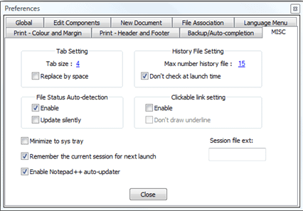 Notepad++ tab to spaces setting