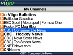 Viigo RSS Reader for Windows Mobile